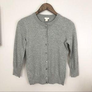 J Crew Gray The Clare Cardigan